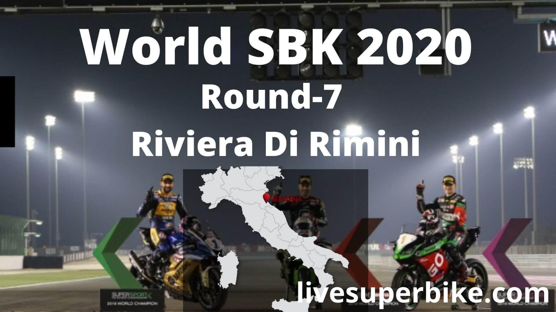 Riviera Di Rimini Super Bike Live Stream 2020   Round 7