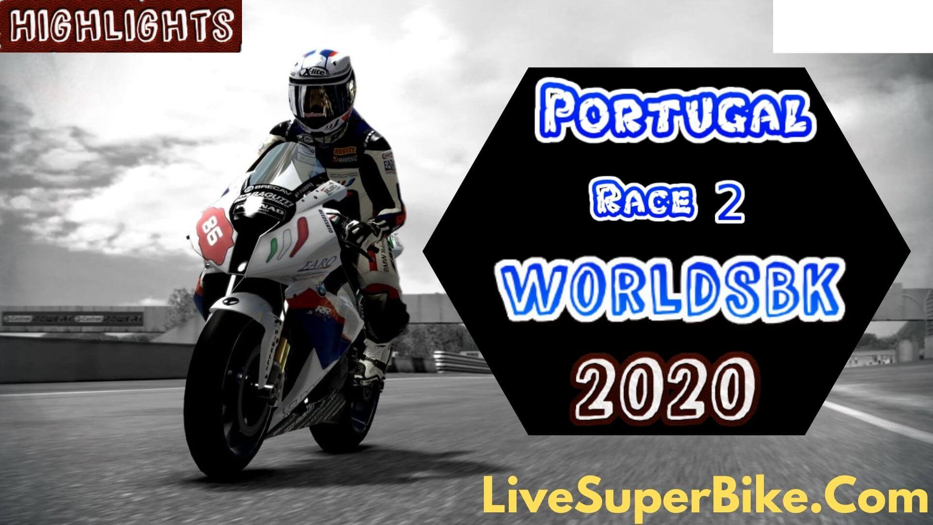 Portugal WorldSBK Race 2 Highlights 2020