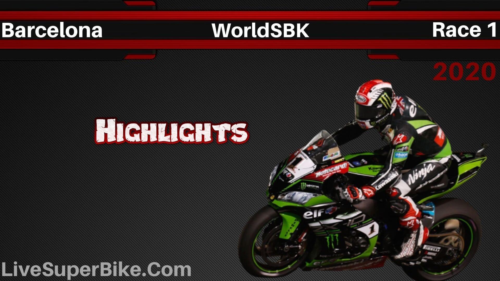 Barcelona WorldSBK Race 1 Highlights 2020