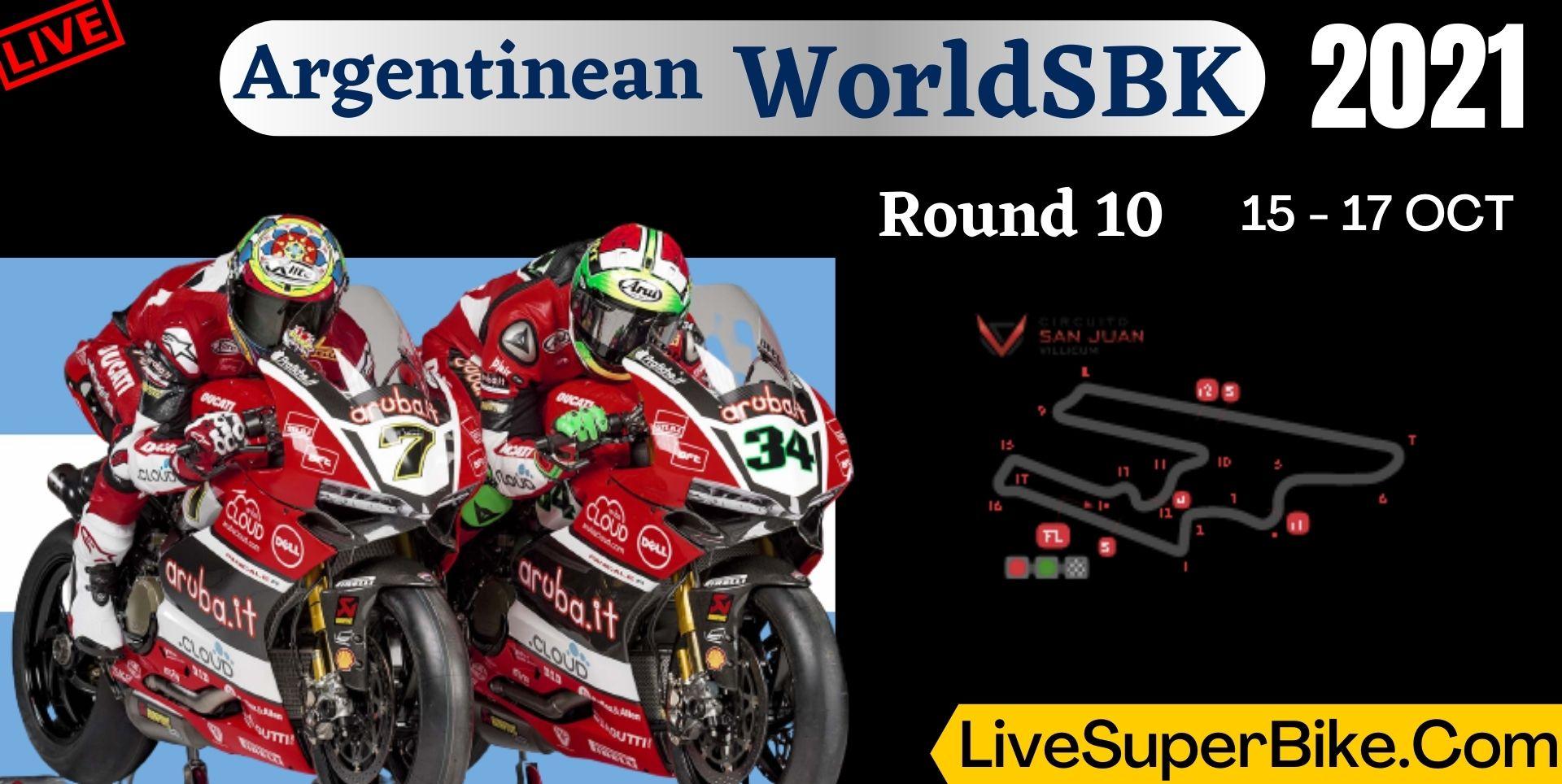 Argentinean Round 10 Live Stream 2021 | WorldSBK