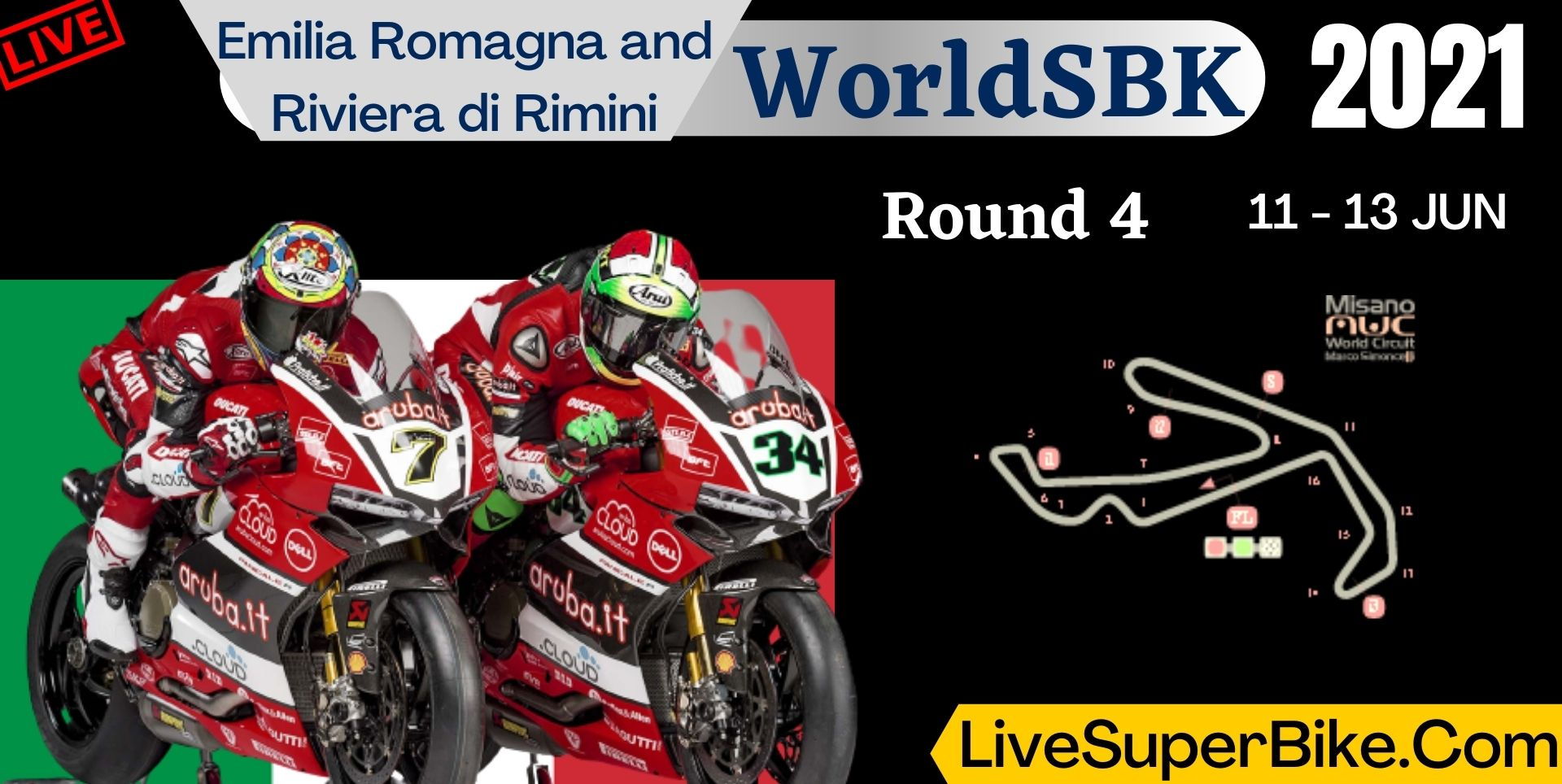 Emilia Romagna and Riviera di Rimini Round 4 Live 2021 | WorldSBK