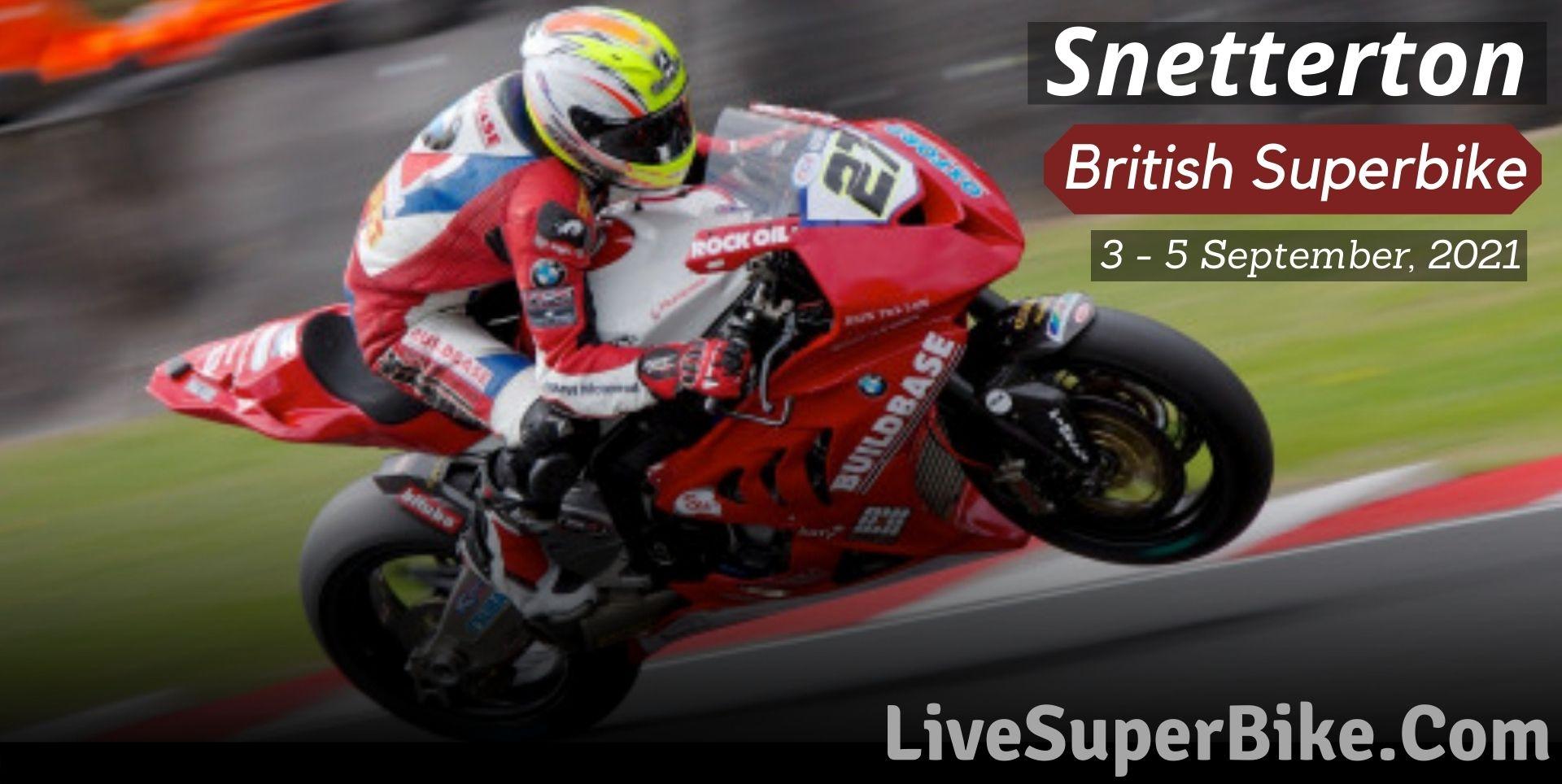 Snetterton British Superbike Live Stream 2021